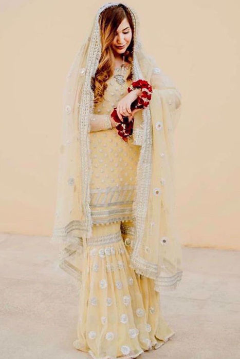 Picture of Tooba on her Mayun chose to wear Kiran from our formals collection