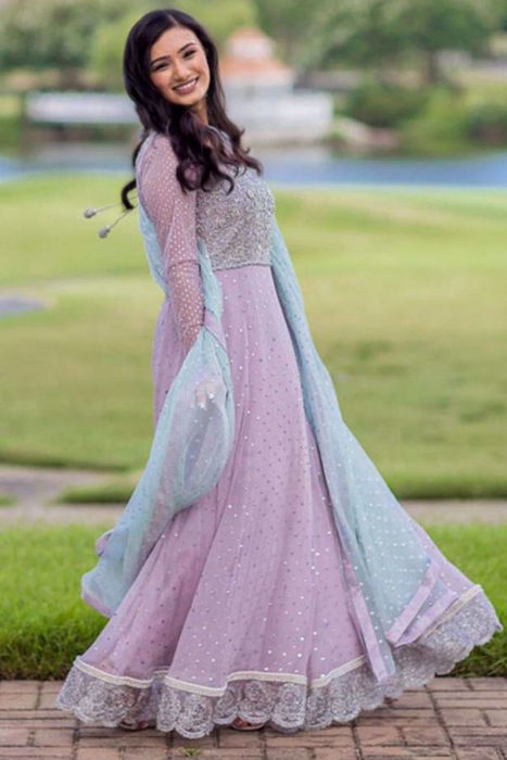 Picture of Our lovely client wears customised design on her big day from our formals collection