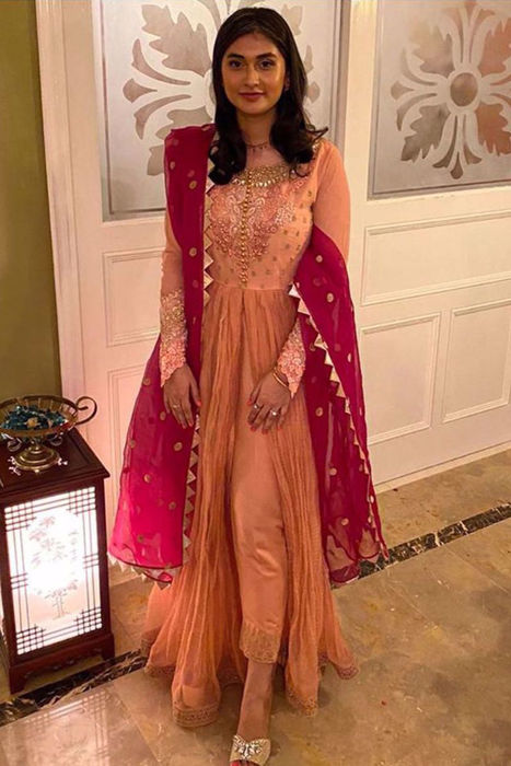 Picture of Our lovely client dons Nazakat from our intimate wedding collection and isnt she looking gorgeous.