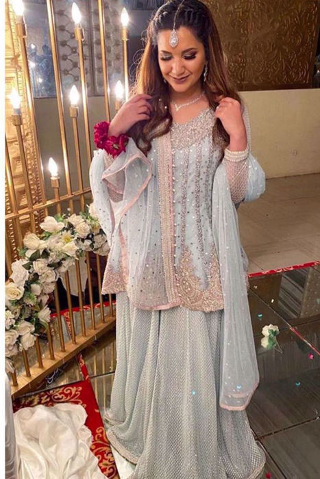 Picture of Our fav Tooba have us totally bedazzled in ZC Bridal on her special day!