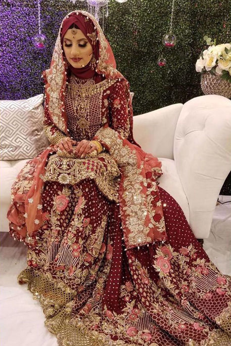 Picture of Our client Anusha wears Siam Rouge from our bridal collection on the most special day of her life