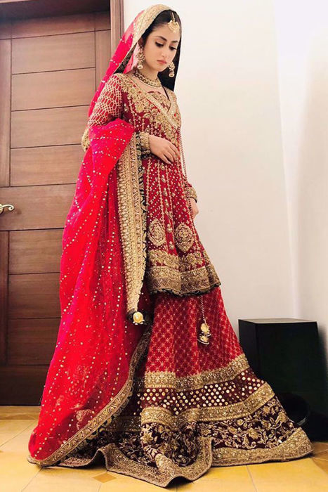 """Picture of Our absolutely favorite @sajalaly dons """"Gul Noor"""" from Khwahish collection"""