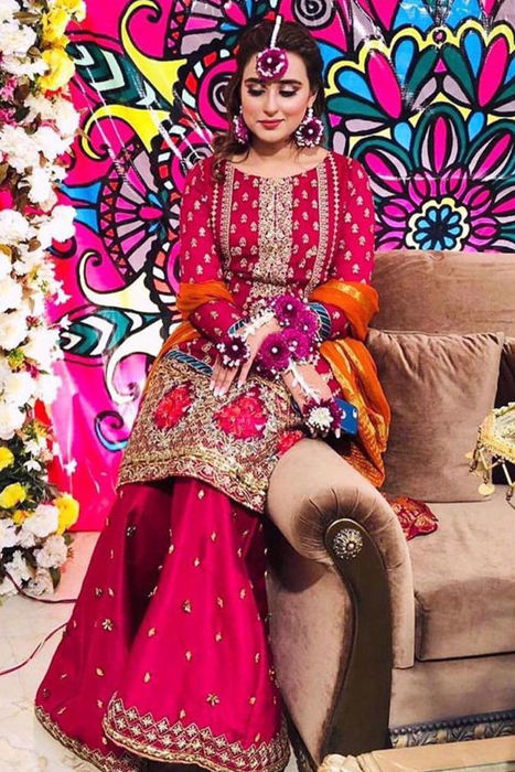 Picture of ZC client looks divine in Angan from our wedding festive collection'20