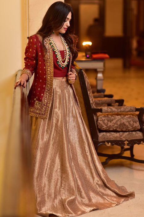 Picture of @punjwanibarkha looks gorgeous in customised Saher outfit from our luxury collection
